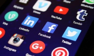 social media apps: LinkedIn, Twitter, Facebook, Tumblr, YouTube