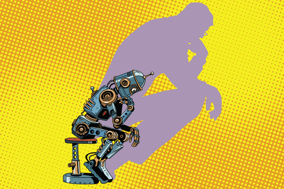 artificial intelligence as The Thinker