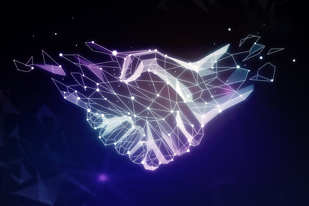 handshake for authentic collaboration