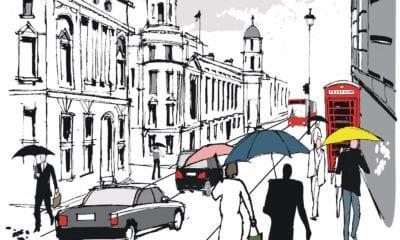 people walking in london