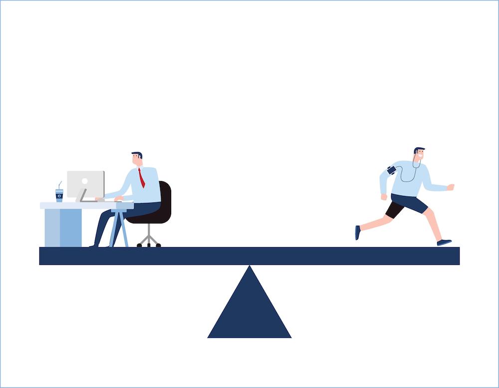 Businessperson achieving work-life balance