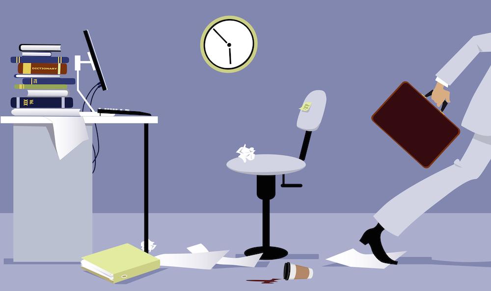 Employee with work-life balance