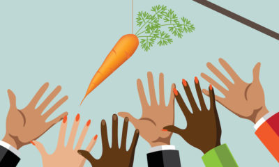 Employees reaching for carrot perks