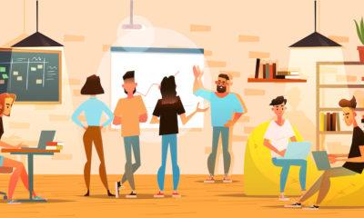 Startup team meeting