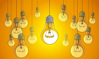 Lightbulbs idea creative