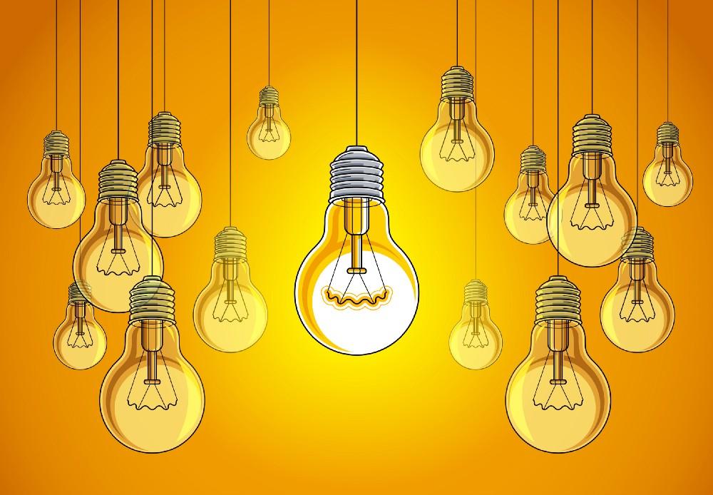 Lightbulbs idea creative