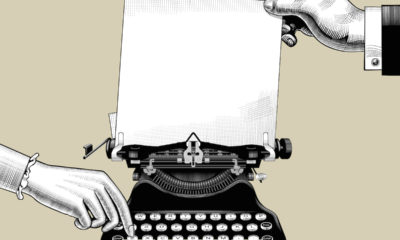 Writing typewriter
